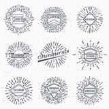 Vector vintage sunburst Stock Image