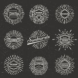Vector vintage sunburst Royalty Free Stock Images