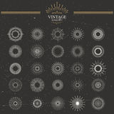 Vector vintage sunburst Stock Images