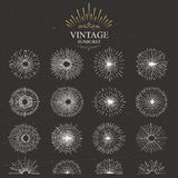 Vector vintage sunburst Royalty Free Stock Photography