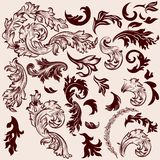 Vector vintage swirls set for design Stock Image