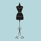 Vector vintage tailor's mannequin Stock Photo