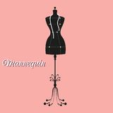 Vector vintage tailor's mannequin Royalty Free Stock Photos