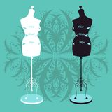 Vector vintage tailor's mannequin Royalty Free Stock Image