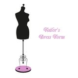 Vector vintage tailor's mannequin Royalty Free Stock Images