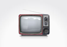 Vector vintage television. Vintage TV set realistic vector illustration Royalty Free Stock Photography