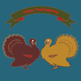 Vector vintage thanksgiving greeting card Royalty Free Stock Photos