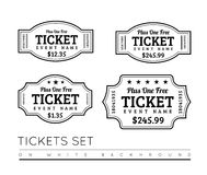 Vector Vintage Ticket Icon Royalty Free Stock Image