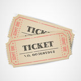 Vector Vintage Tickets Royalty Free Stock Photography
