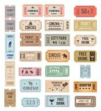 Vector vintage tickets Royalty Free Stock Images