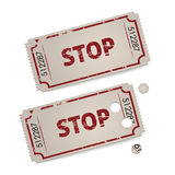 Vector vintage tickets - stop Stock Images
