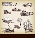 Vector vintage transport Stock Photo