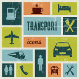 Vector vintage transport poster Stock Images