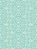 Vector vintage turquoise and beige floral seamless Stock Photo