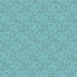 Vector vintage turquoise floral seamless pattern Stock Images
