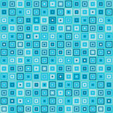 Vector vintage turquoise square rectangles geometric pop design Royalty Free Stock Photos