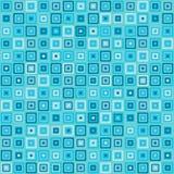 Vector vintage turquoise square rectangles geometric pop design stock illustration