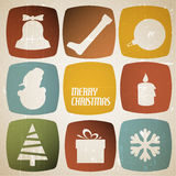 Vector Vintage vector christmas card Royalty Free Stock Photography