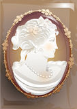 Vector Vintage victorian cameo Stock Image