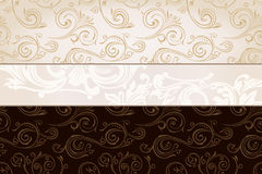 Vector vintage wallpaper. Gift wrap background Stock Images