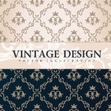 Vector vintage wallpaper. Gift wrap. Floral Royalty Free Stock Photos