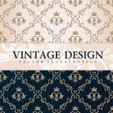 Vector vintage wallpaper. Gift wrap. Floral Royalty Free Stock Photos