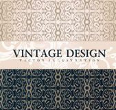 Vector vintage wallpaper. Gift wrap. Floral Royalty Free Stock Photography