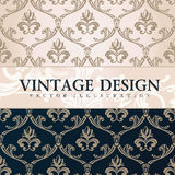 Vector vintage wallpaper. Gift wrap. Floral Stock Photos