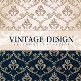 Vector vintage wallpaper. Gift wrap. Floral Stock Photos