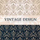 Vector vintage wallpaper. Gift wrap. Floral background Stock Image