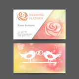 Vector vintage wedding business card template Stock Photography