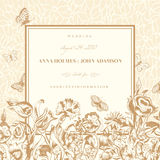 Vector vintage wedding card Royalty Free Stock Images