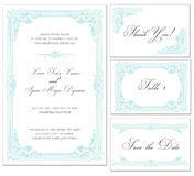Vector Vintage Wedding Frame Set Royalty Free Stock Images