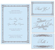 Vector Vintage Wedding Frame Set Stock Photo