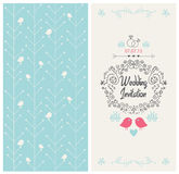 Vector vintage wedding invitation design card Stock Images