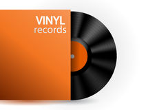 Vector vinyl record Stock Photo