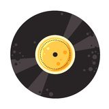 Vector vinyl record Stock Photography