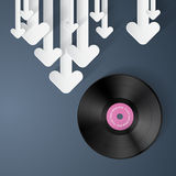 Vector Vinyl Record Disc Background Royalty Free Stock Photos