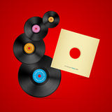 Vector Vinyl Record Discs Set Stock Image