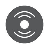 Vector Vinyl Record Icon. Eps 10 illustration Royalty Free Stock Images