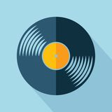 Vector vinyl record icon. Vector retro color vinyl record icon. Eps10 Royalty Free Stock Photo