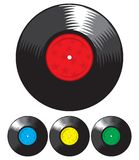 Vector vinyl record set Royalty Free Stock Photography