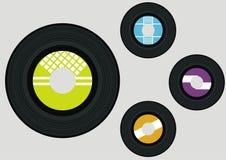 Vector vinyls Stock Photos