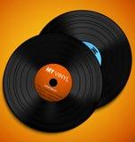 Vector vinyls Stock Image