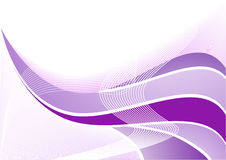Vector violet abstract wave Stock Photography