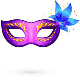Vector violet venitian carnival mask Royalty Free Stock Image