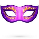 Vector violet venitian carnival mask Stock Images