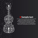 Vector violin with notes Stock Image