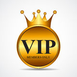 Vector VIP Members Only Gold Sign, Label Template Royalty Free Stock Photos