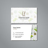 Vector visit card template with pattern success and money Royalty Free Stock Images